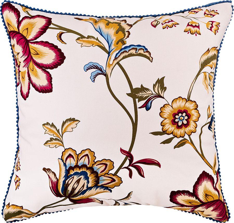 Подушка декоративная Santalino Восточные цветы, 850-877-6, разноцветный, 45 x 45 см цена
