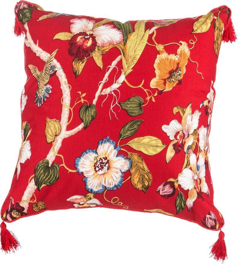 Подушка декоративная Santalino Парадиз, 850-823-61, красный, 45 x 45 см подушка декоративная рапира сладкого настроения 45 х 45 см