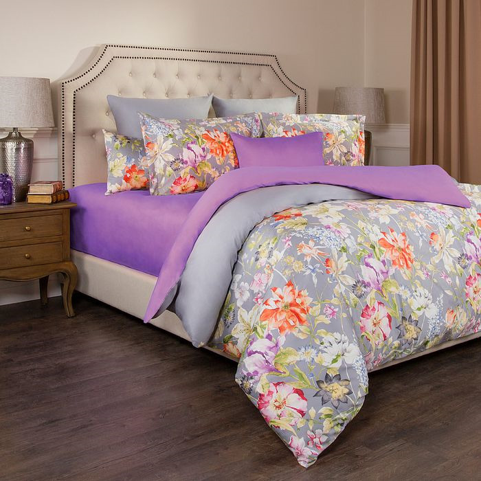 цена на Комплект постельного белья Santalino Пастораль, 1,5-спальный, наволочки 50 х 70 см, 985-271, разноцветный