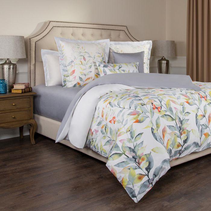 цена на Комплект постельного белья Santalino Гармоника, 2-спальное, наволочки 70 х 70 см, 985-233, белый, серый