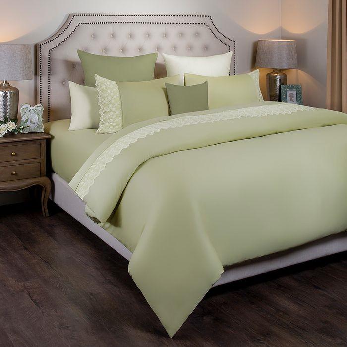 Комплект постельного белья Santalino Идиллия, евро, наволочки 50 х 70 см, 984-606, зеленый