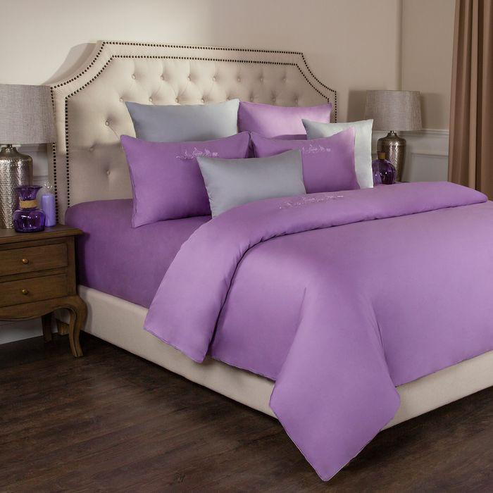 цена на Комплект постельного белья Santalino Богема, 2-спальное, наволочки 50 х 70 см, 985-004, сиреневый