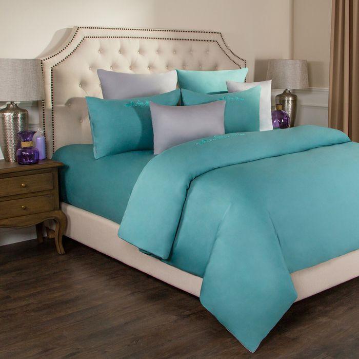 цена на Комплект постельного белья Santalino Богема, 2-спальное, наволочки 50 х 70 см, 985-001, бирюзовый