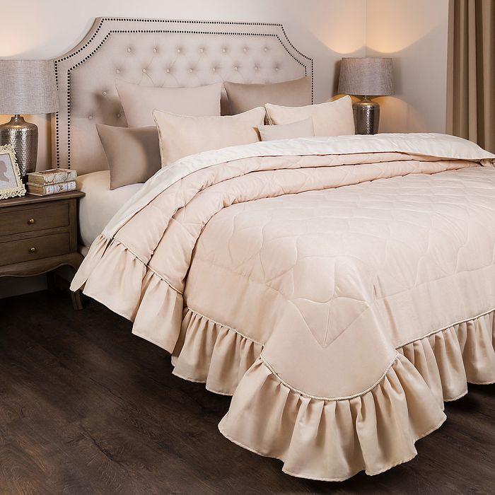 Комплект постельного белья SANTALINO Комплект на кровать Барокко, покрывало, 250 х 230 см, 2 наволочки 50 х 70 см бежевый комплект для спальни сайлид twiggi покрывало 230 х 250 см 2 наволочки 50 х 70 см цвет голубой