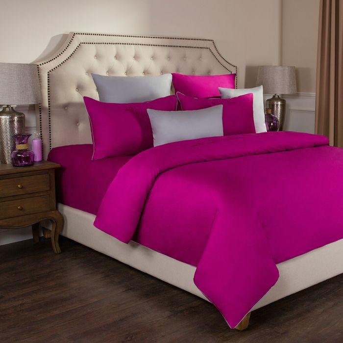 цена на Комплект постельного белья Santalino Богема, 2-спальное, наволочки 50 х 70 см, 985-003, фуксия