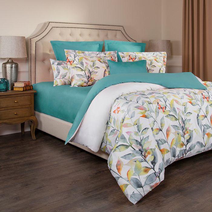 цена на Комплект постельного белья Santalino Гармоника, 1,5-спальный, наволочки 50 х 70 см, 985-264, бирюзовый