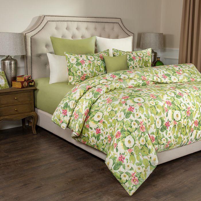 Комплект постельного белья Santalino Жасмин, 1,5-спальный, наволочки 50 х 70 см, 984-001, светло-зеленый пододеяльник полутораспальный santalino жасмин 150 215 см