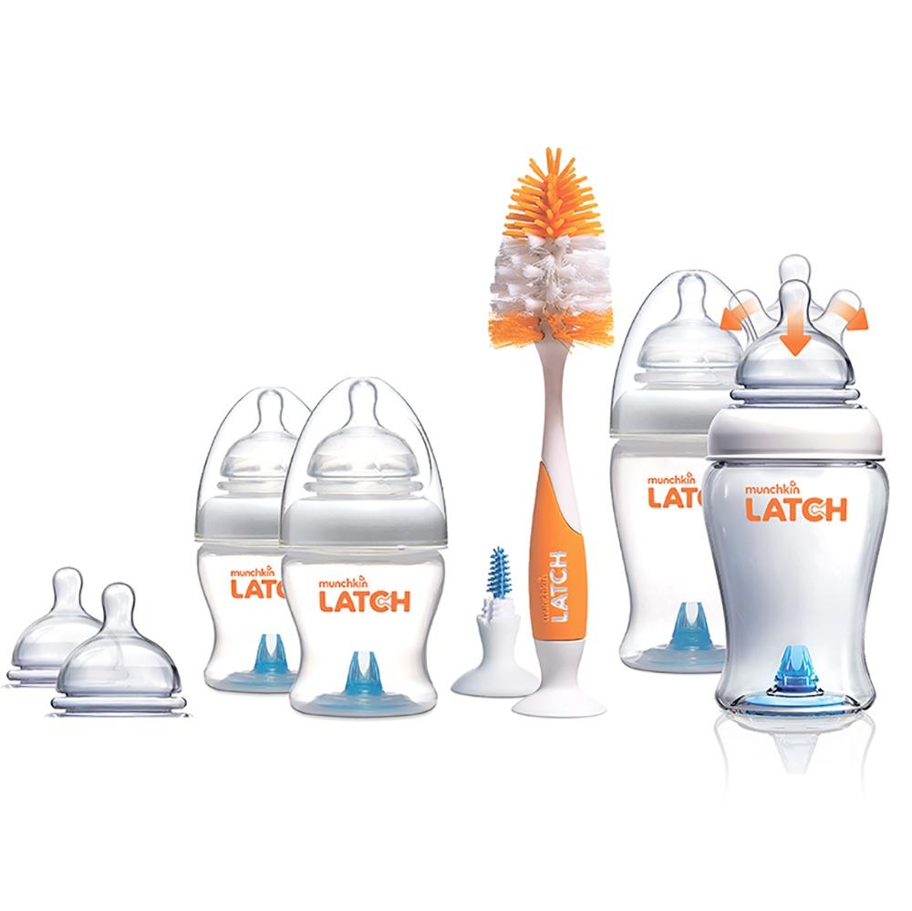 Munchkin Набор бутылочек для кормления от 0 месяцев 4 шт + 6 сосок и ершик бутылочка для кормления munchkin latch 120 мл 2 шт 0 11620 011618