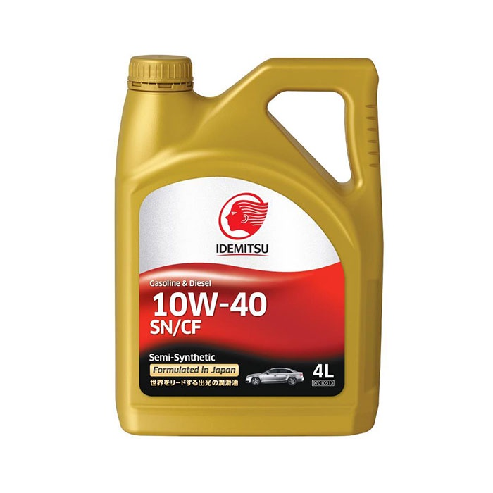 "Масло моторное полусинтетическое IDEMITSU ""Gasoline & Diesel Semi-Synthetic 10W-40"",SN/CF 4л (30015045746)"