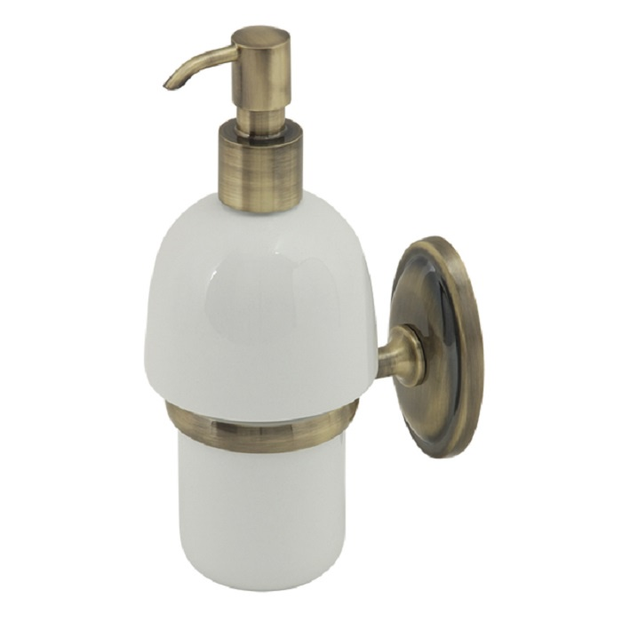 Дозатор жидкого мыла настенный (бронза/керамика) дозатор д жидкого мыла primanova akik bej керамика бежевый