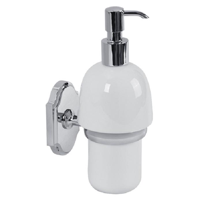 Дозатор жидкого мыла настенный (хром/керамика) дозатор д жидкого мыла primanova akik bej керамика бежевый
