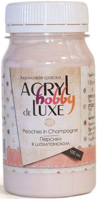 Краска акриловая Акрил-Хобби Де Люкс, Таир, 100 мл, Персики в шампанском