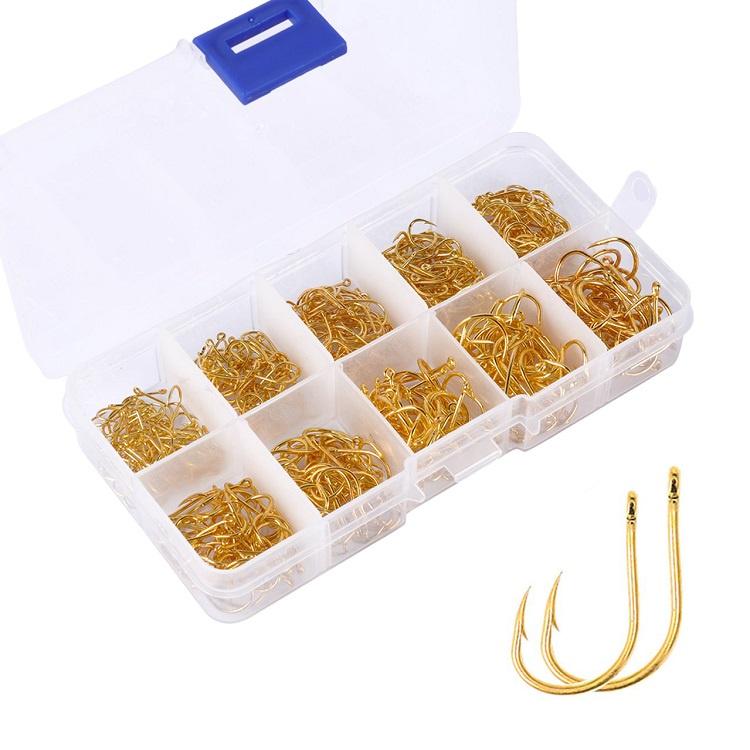 Набор рыболовных крючков, в золотом цвете, 13х6,5х2,5 см
