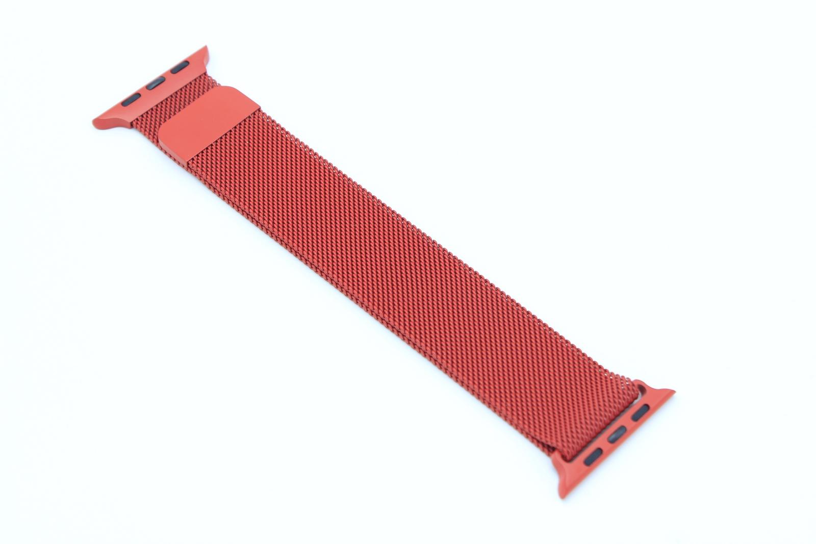 Ремешок VG Milan металлический Миланская петля для Apple Watch 42/44 мм, красный цена