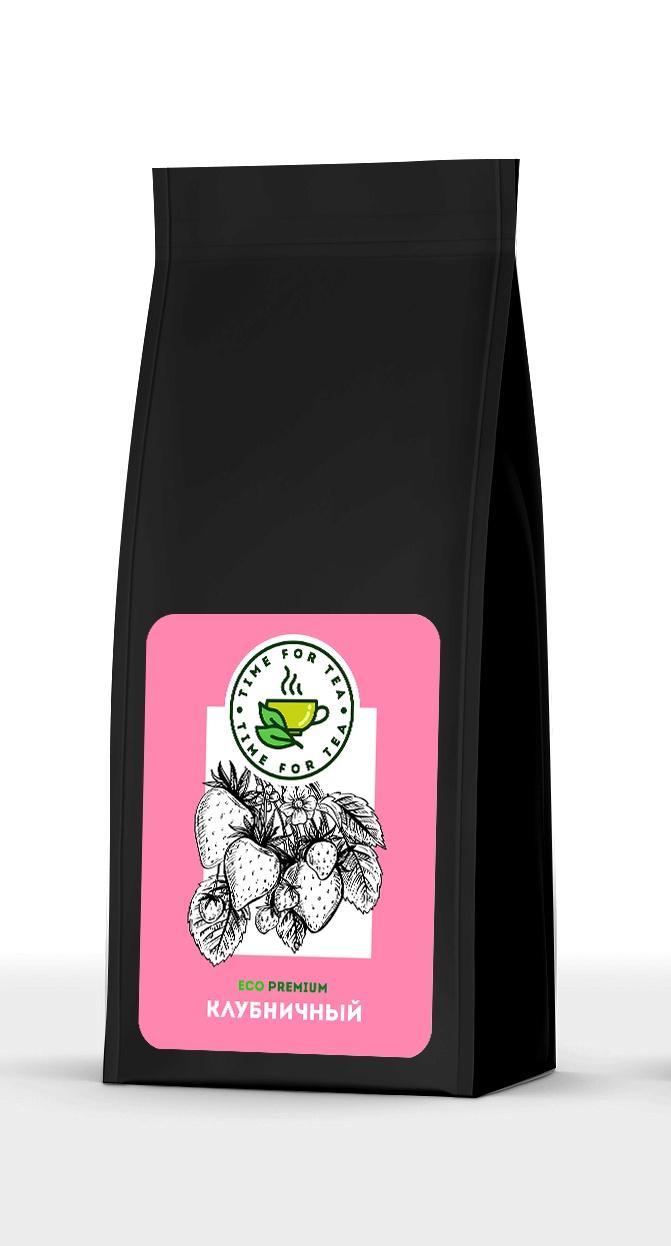 Черный чай Клубничный ECO Premium, 100 г. чай листовой время чая клубничный eco premium 250