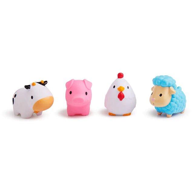 Munchkin игрушка для ванны деревенские зверюшки 9+ 4 шт. какие игрушки интересны для малыша 8 месяцев фото