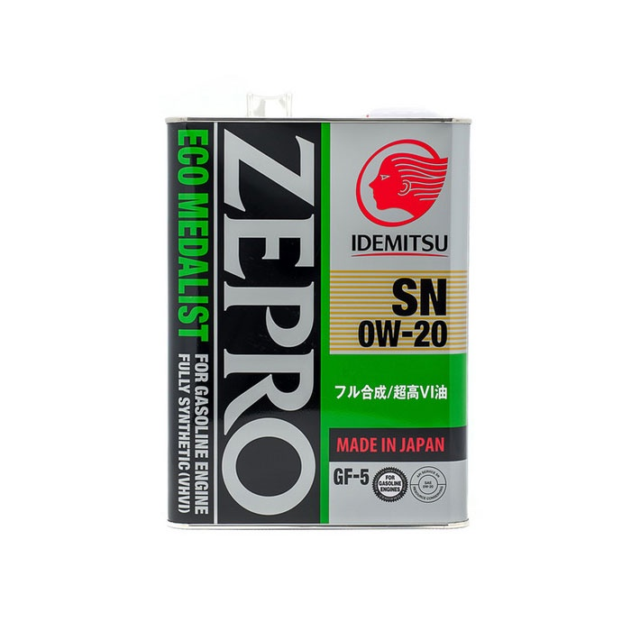 "Масло моторное синтетическое IDEMITSU ""Zepro Eco Medalist 0W-20"", SN 4л (3583004)"