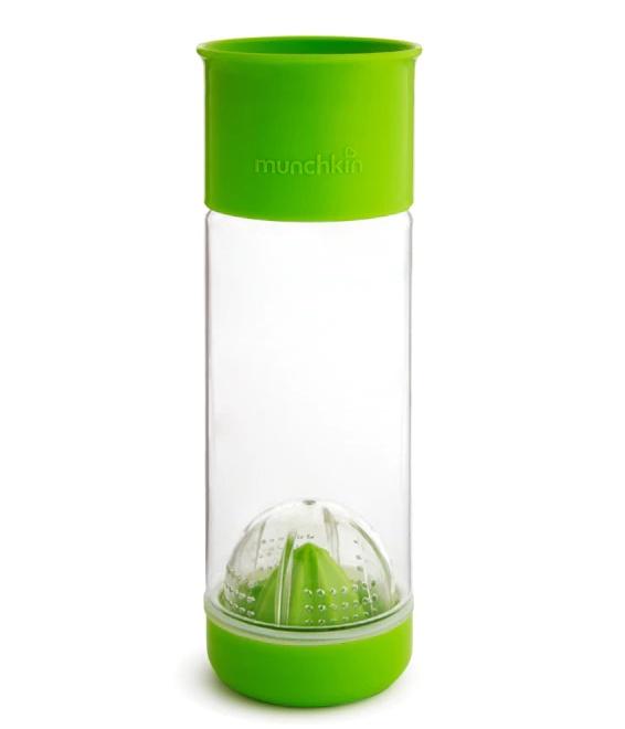 Munchkin бутылка 360 для фруктовой воды с инфузером 591мл. Зеленый бутылка для воды с инфузером mayer