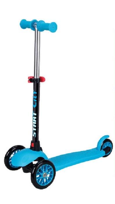 SS4B Самокат трехколёсный Slider, цвет голубой самокат 4 колеса