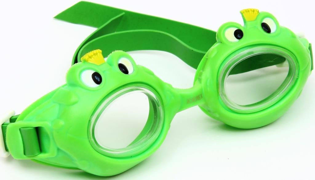 Очки для плавания детские JOEREX SSM1801-1, дизайн лягушка очки для плавания зеленые в футляре