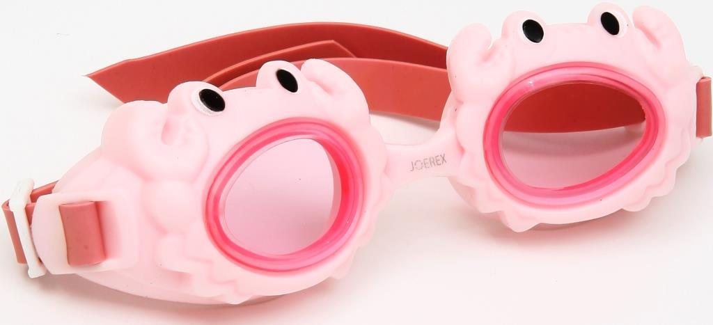 Очки для плавания детские JOEREX SSM1801-3, дизайн краб очки для плавания зеленые в футляре