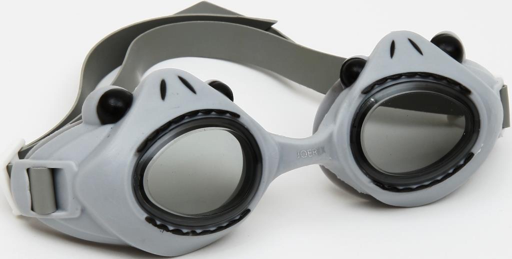 Очки для плавания детские JOEREX SSM1801-4, дизайн акула очки для плавания зеленые в футляре