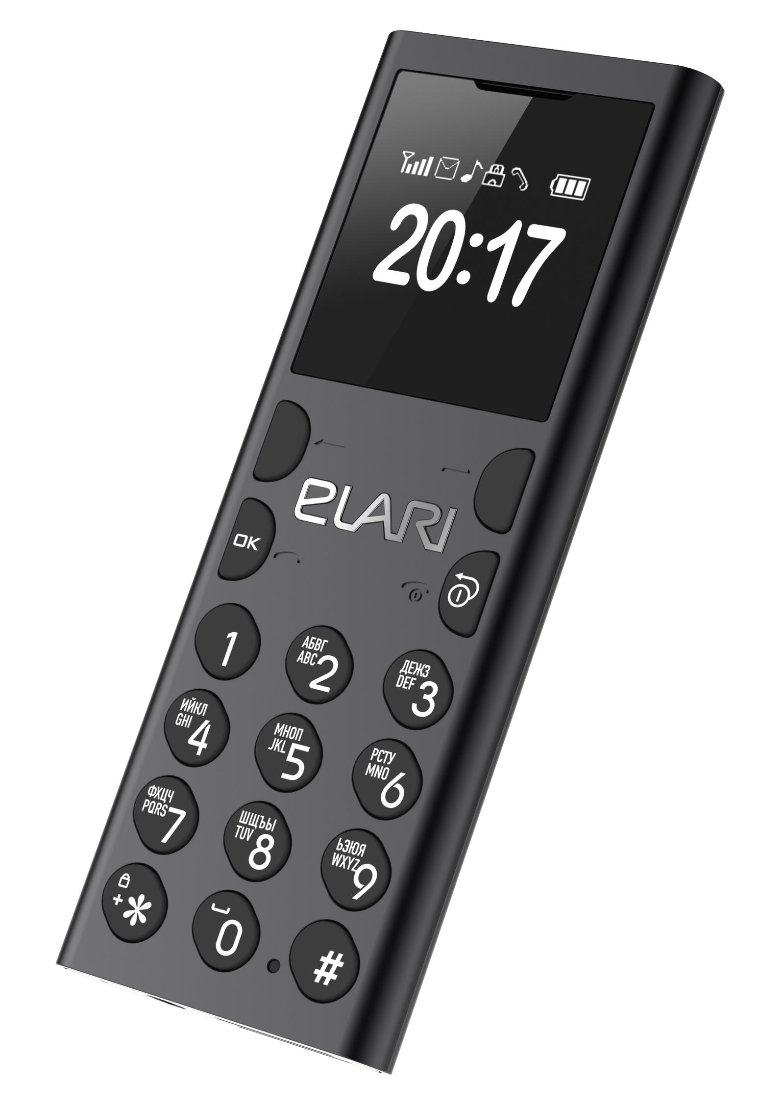 Мобильный телефон/Bluetooth-гарнитура Elari NanoPhone C, чёрный антрацит Elari