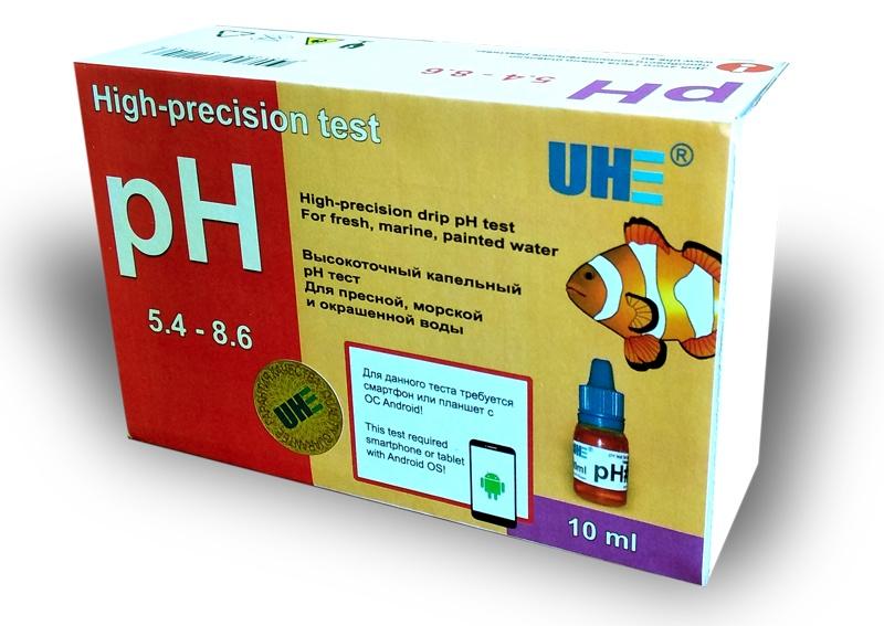 Тест для аквариумной воды UHE pH 5,4-8,6