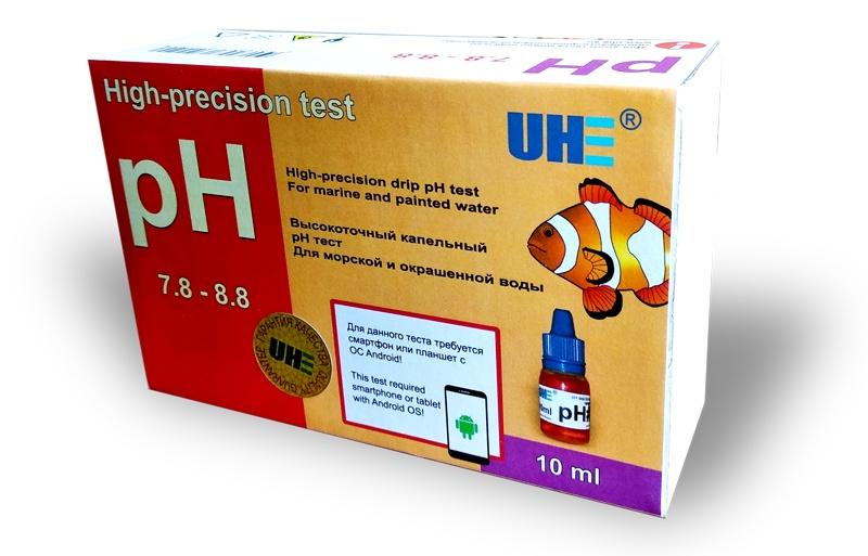Тест для аквариумной воды UHE pH 7,6-8,6