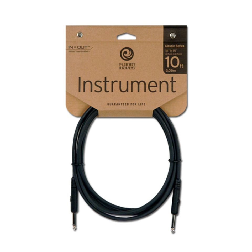 PLANET WAVES PW-CGT-10 шнур гитарный Classic 3,05 м. planet waves xlr8
