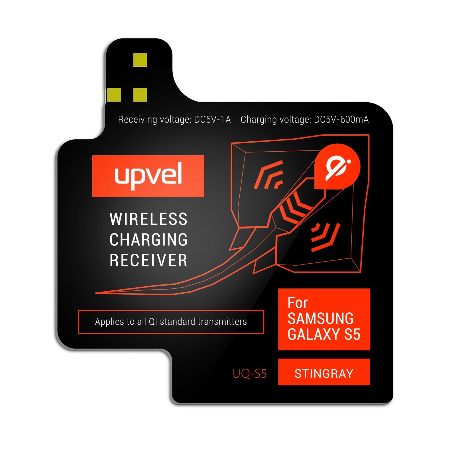 UPVEL UQ-S5 Stingray для Samsung Galaxy S5, Black модуль-приемник беспроводной зарядки стандарта Qi все цены