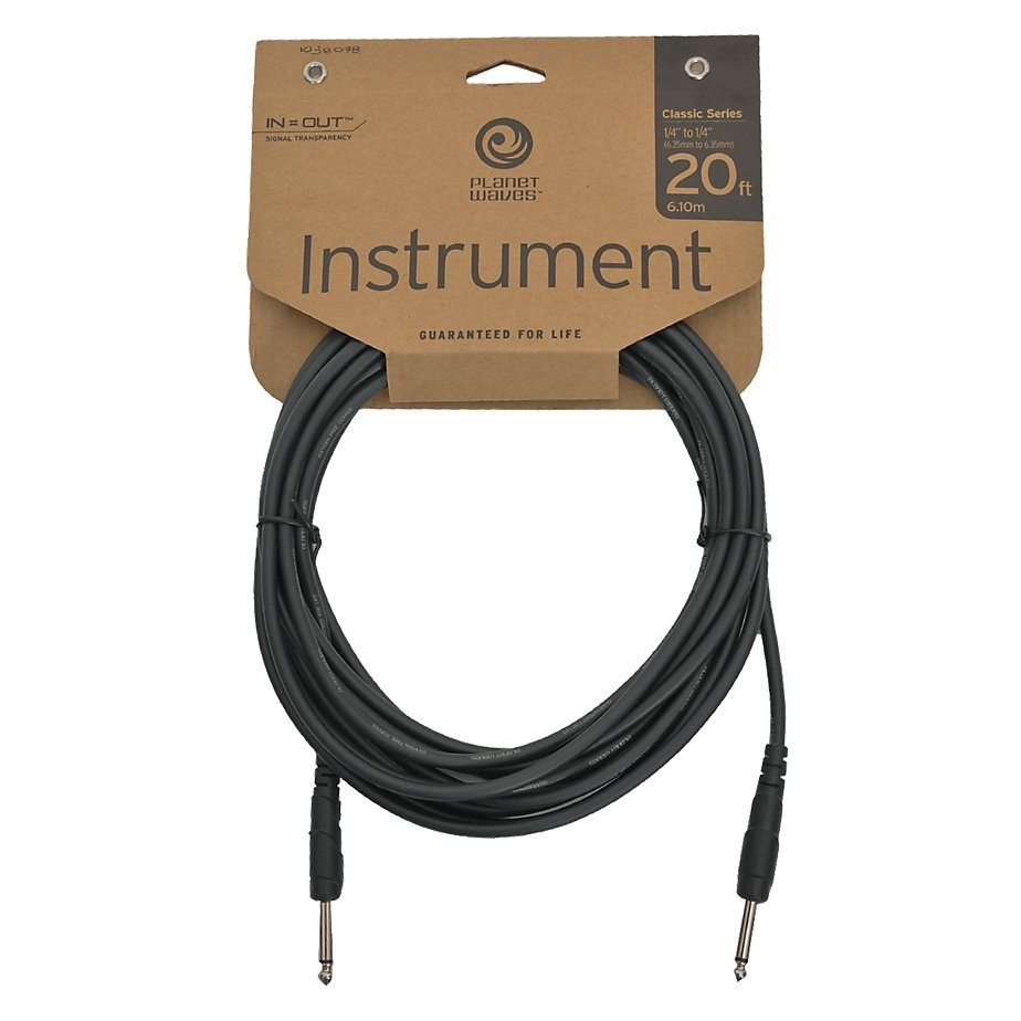 Planet Waves PW-CGT-20 шнур гитарный Classic 6,01 м planet waves xlr8