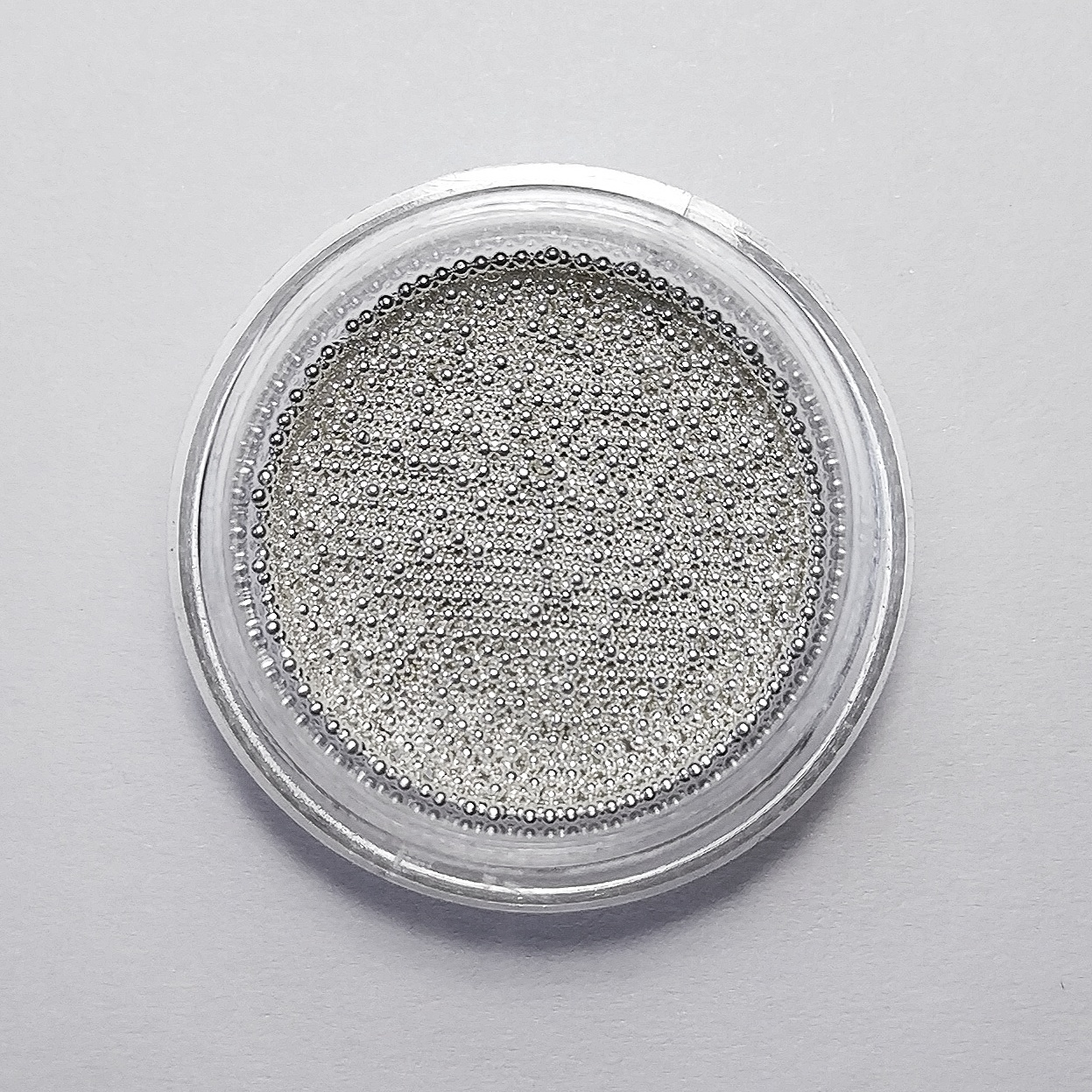 цена на Бульонки металлические 0,8 мм, серебро