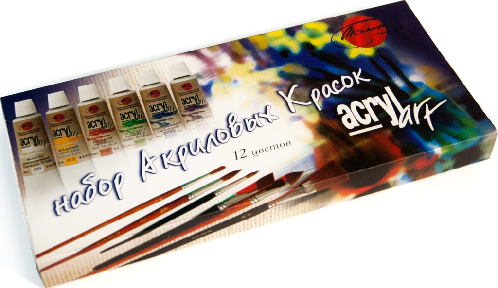"""Набор художественных акриловых красок Акрил-Арт, """"Таир"""", 20 мл, 12 цветов"""
