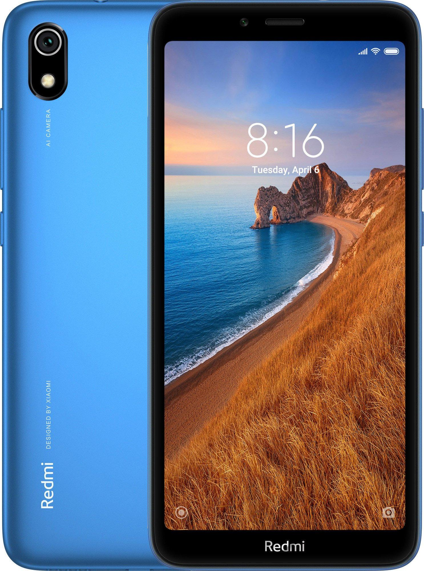 Смартфон Xiaomi Redmi 7A 2/16GB Blue 16 GB, синий смартфон xiaomi redmi 5 2 16 gb золотистый