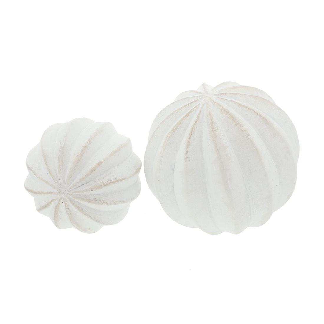 """Декоративные фигуры """"Белые шары"""", 2 штуки"""
