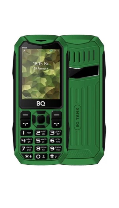 Мобильный телефон BQM-2428 Tank Green стоимость