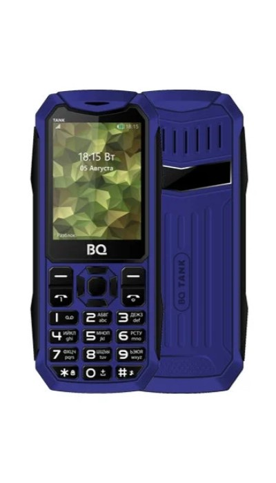 Мобильный телефон BQ 2428 Tank Blue мобильный телефон bq mobile bq 2430 tank power green silver