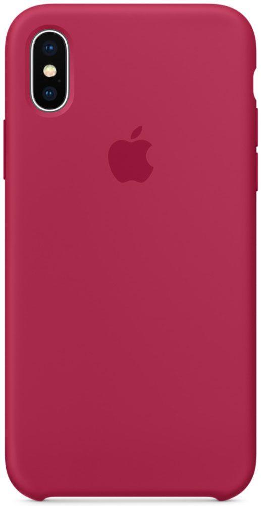 цена на Чехол для Apple iPhone X Silicone Case Rose Red