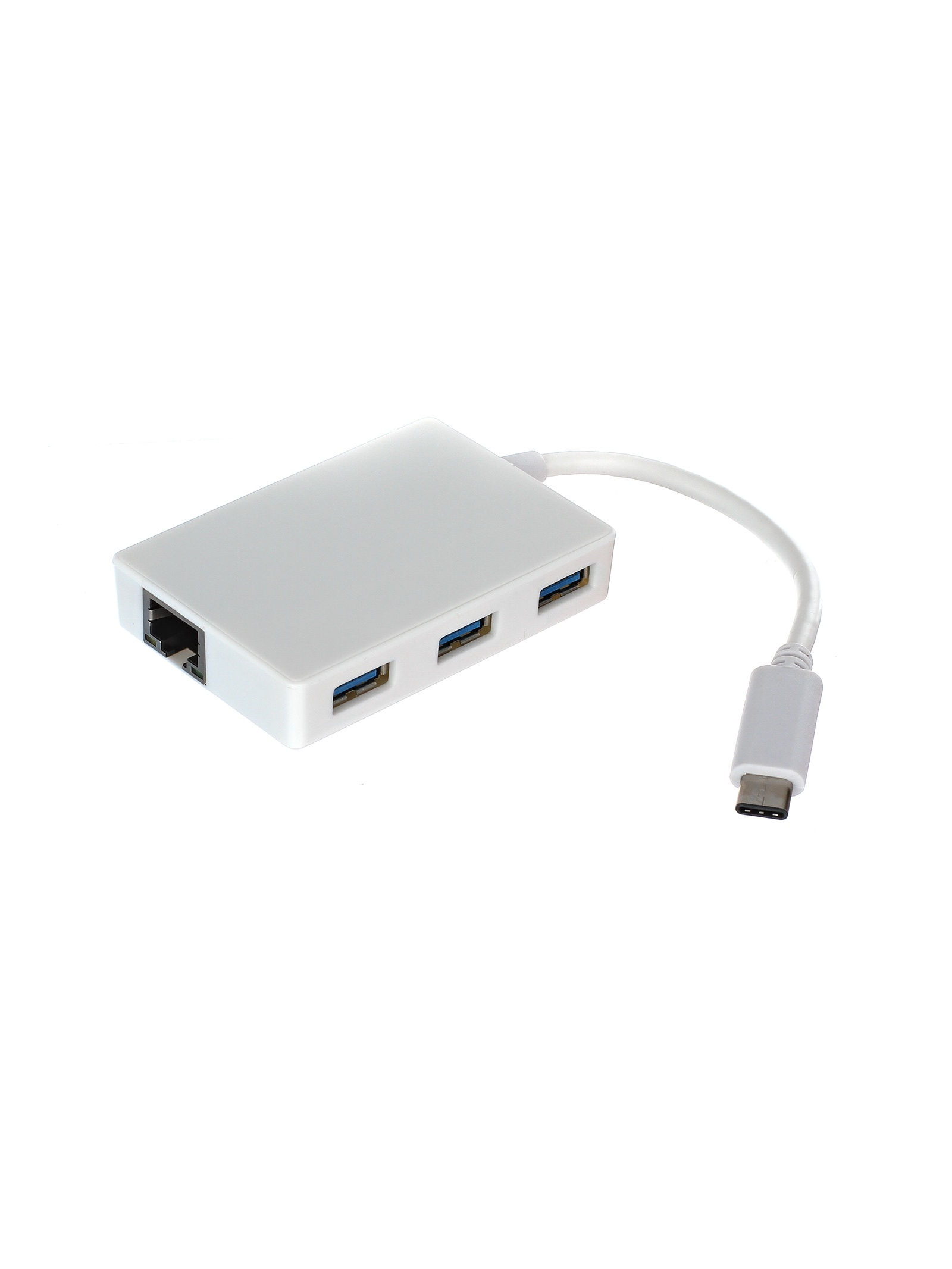 Кабель-концентратор USB 3.1 Type-C-Male --> 3 port USB3.0 HUB + microUSB-type B-Female + LAN VCOM переходник vcom usb 3 1 type c lan rj45 du320
