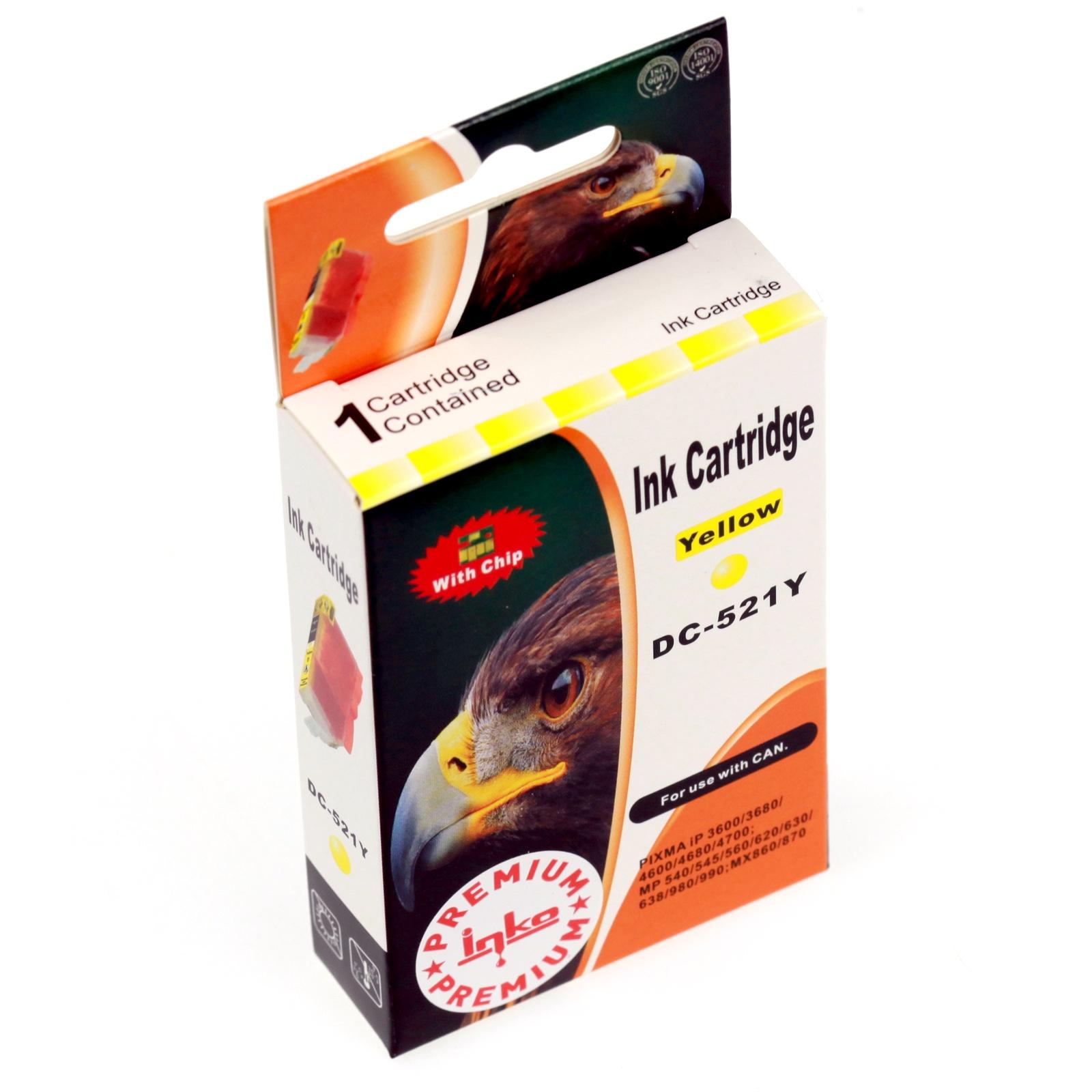 Картридж Inko для CLI-521Y Желтый цены