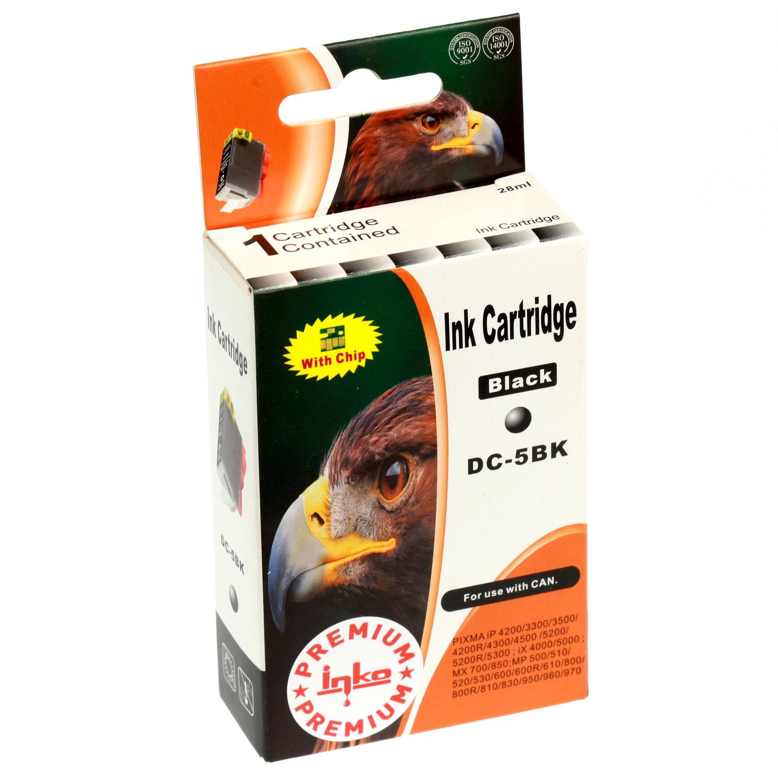 Картридж Inko для PGI-5BK Черный картридж canon pgi 5bk twin pack для pixma mp800 mp500 ip5200 ip5200r ip4200 черный двойная упаковка