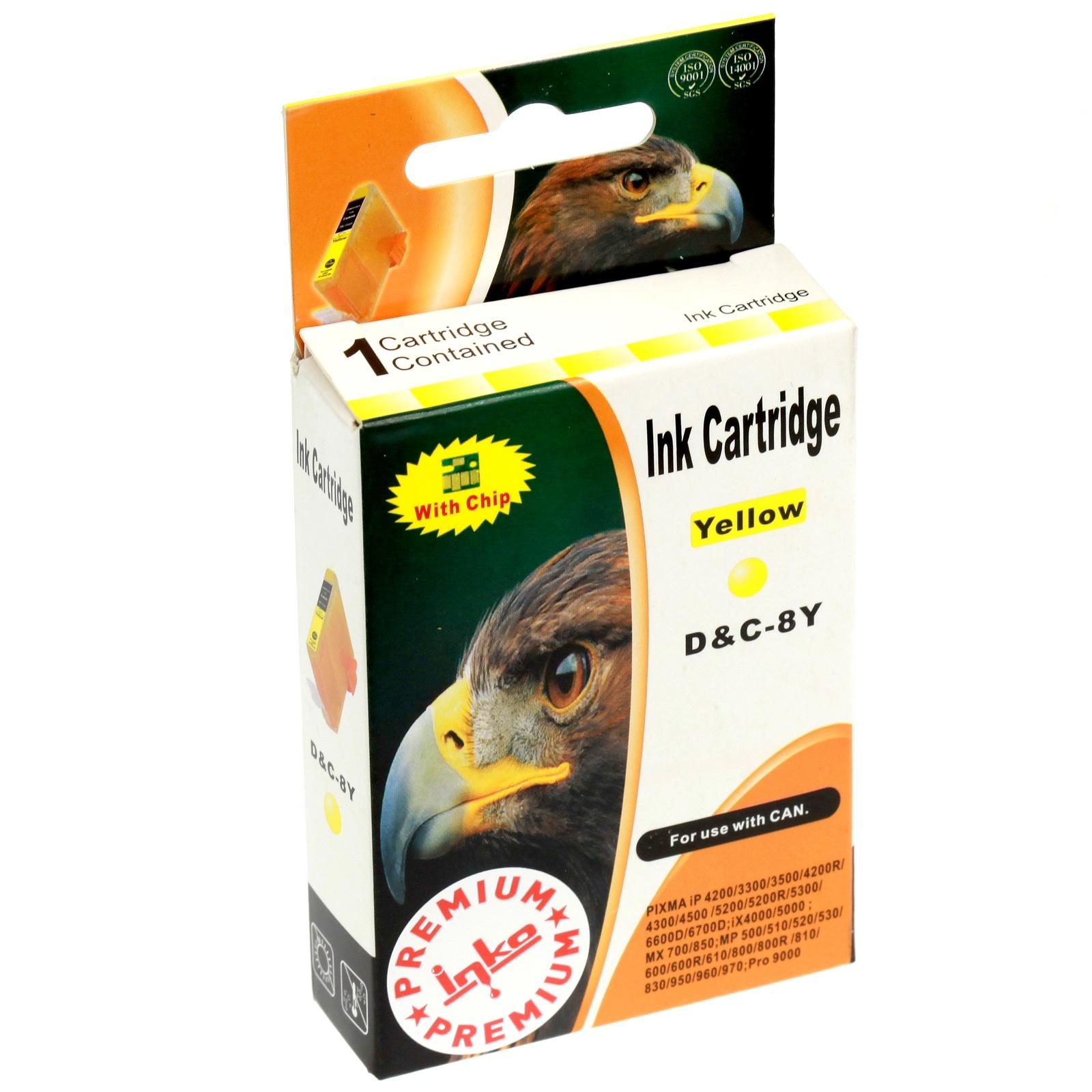 Картридж Inko для CLI-8Y Желтый картридж canon cli 8y 0623b024 для canon ip6600d 4200 5200 5200r желтый