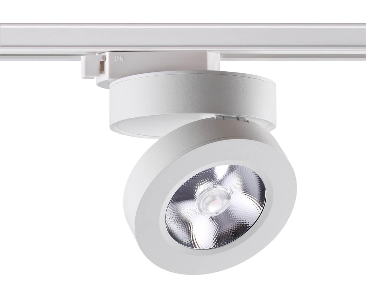 Трековый светильник Novotech 357986, LED, 12 Вт встраиваемый светодиодный светильник novotech groda 357983