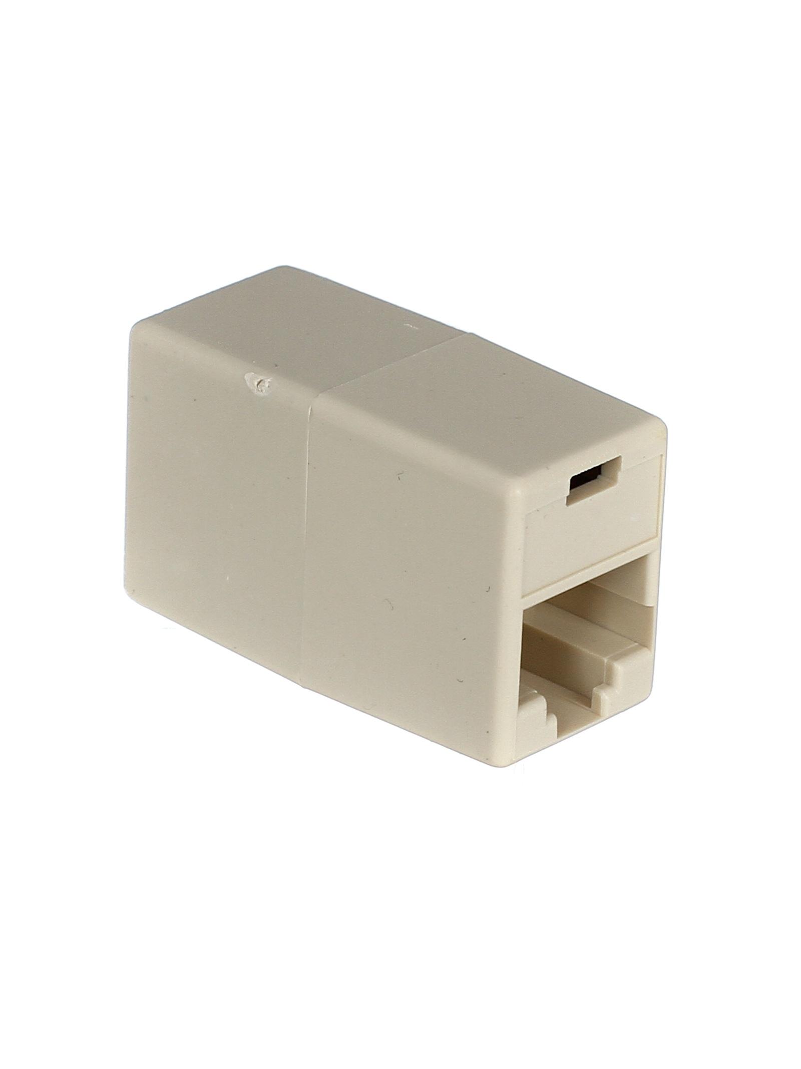 Проходной адаптер RJ-45, категория 5e (8P8C), 2 розетки RJ-45, Aopen, 10 шт в упаковке (ACT251) коннекторы rj 45 8p8c для utp кабеля 5 кат aopen aopen anm005 vcom vna2200 100 шт в пакете