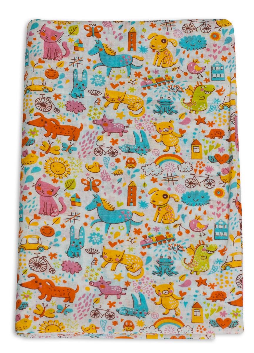 """Пеленки для новорожденных ситцевые Чудо-чадо """"Для самых маленьких"""", ПТС05-001, 1шт"""