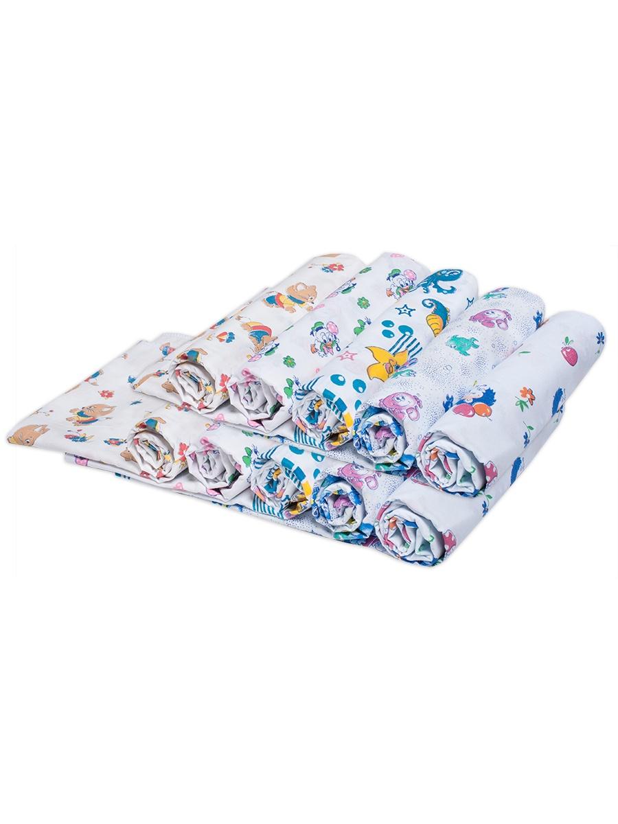 """Пеленки для новорожденных ситцевые Чудо-чадо """"Для самых маленьких"""", ПТС05-003, 10 шт"""