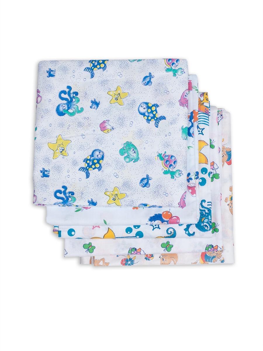 Пеленки для новорожденных ситцевые Чудо-чадо, Для самых маленьких, ПТС05-002, 5 шт