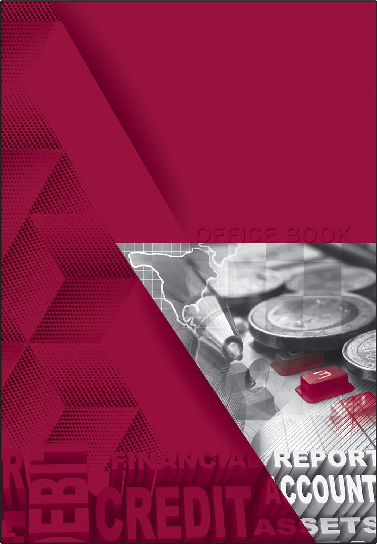 """Тетрадь с твердой обложкой BG формата А5 80 листов в клетку на евроспирали """"Дебет-кредит"""""""