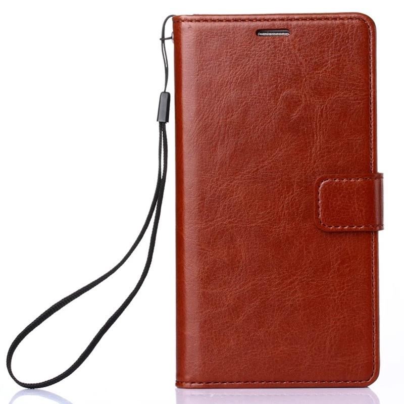 Чехол-книжка MyPads для Huawei Honor 7C/ Huawei Honor Play 7A High с мульти-подставкой застёжкой и визитницей коричневый